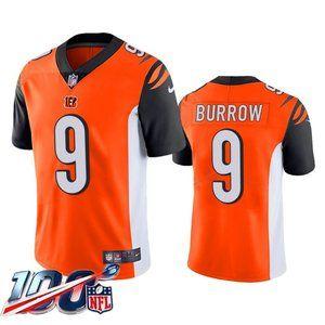 Cincinnati Bengals Joe Burrow Orange Jersey